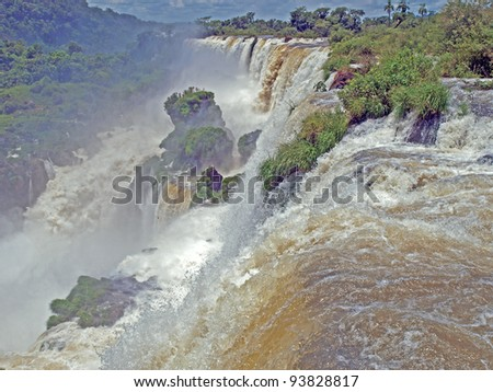 View of Iguazu Falls from the Argentinian side