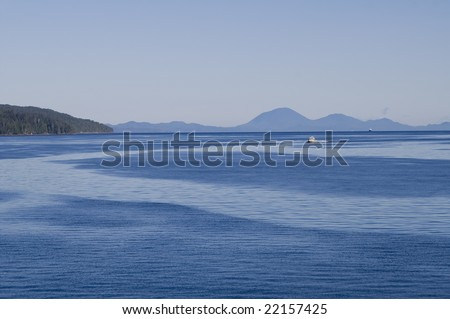 View of Inside Passage to Alaska from ship