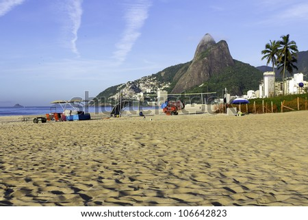 View of Ipanema Beach in the early morning