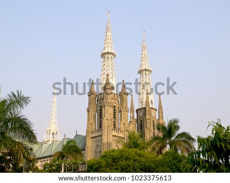 View of Jakarta Cathedral #1023375613
