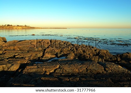 View of james bay at sunset, victoria, british columbia, canada