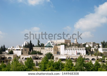 View of Jerusalem  city in Israel