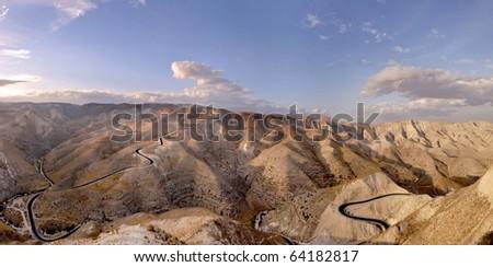 View of Judea desert mountains, Israel