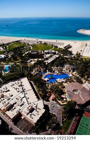 View of Jumeirah beach in Dubai, UAE