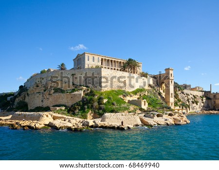 View of  Kalkara Palaces and Grand Harbour. Malta