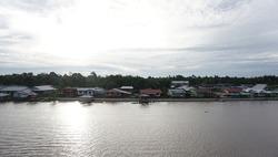 View of Kampung Brunei, dalat Sarawak.