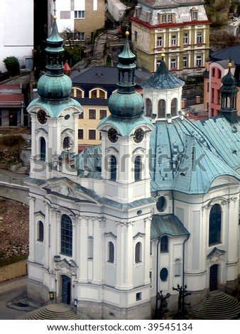 View of Karlovy Vary. Church of St. Mary Magdalene