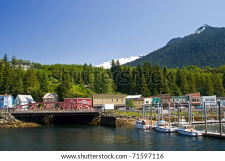 View of Ketchikan Street, Alaska