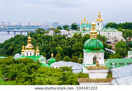 View of Kiev Pechersk Lavra, the orthodox monastery included in the UNESCO world heritage list. Ukraine