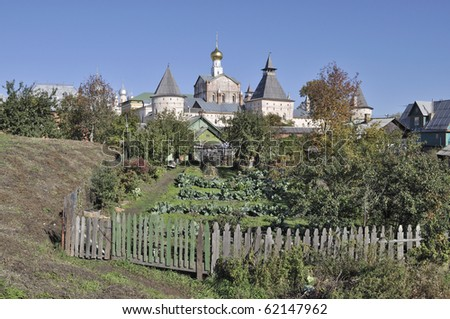 View of Kremlin in ancient russian city Rostov The Great