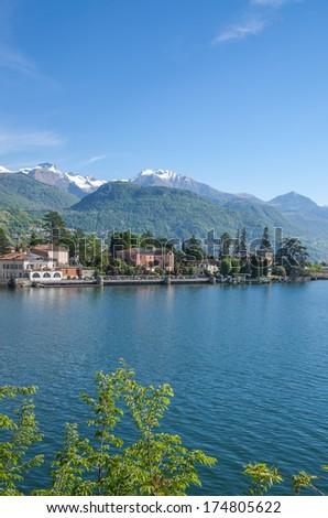 View of Lake Como near Tremezzo,italian Lake District,Lombardy,Italy