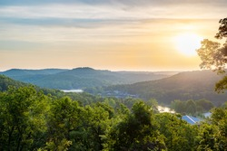 View of Lake of the Ozarks in Missouri at Sunrise