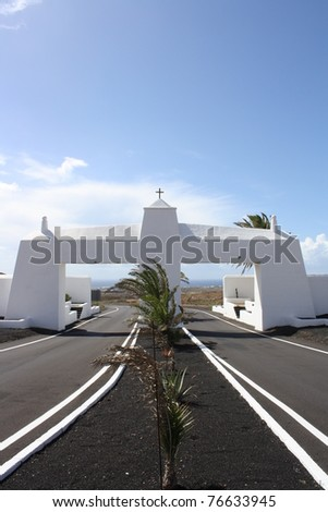 View of Lanzarote Road ( Canary Islands, Spain)