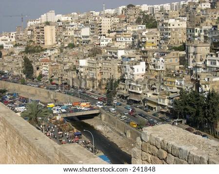 View of Lebanese town Tripoli