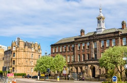 View of Leith academy in Edinburgh - Scotland