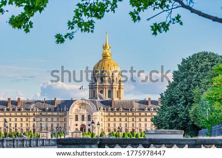 View of Les Invalides, Paris, France Zdjęcia stock ©