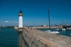 view of lighthouse in port Hallegen in Quiberon - britain - France