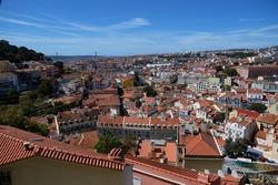 view of Lisbon from Sophia de Mello Brainer Andresen observation deck