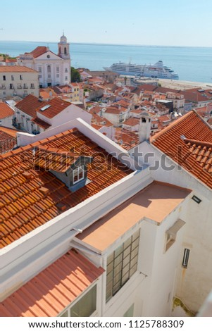 view of lisbon from the...