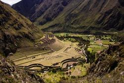 View of Llactapata from the Inka Trail, Peru