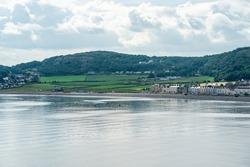 View of Llandudno promenade across Landudno Bay in Wales.