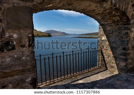 View of Loch Duich from Eilean Donan Castle in Scotland, UK #1157307886