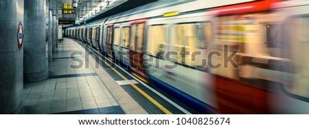 view of London underground, UK.