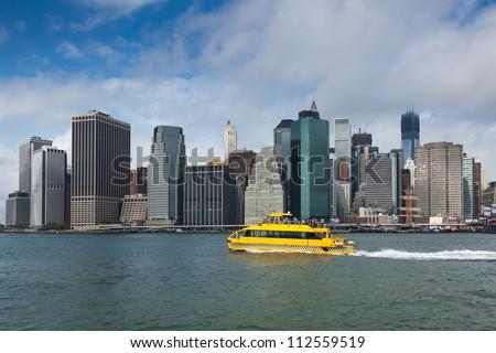 View of lower Manhattan in New York - USA