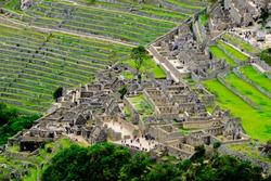 View of Machu Picchu from Wayna Picchu, Huayna Picchu
