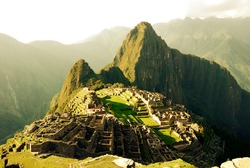 View of Machu Picchu ruins from above