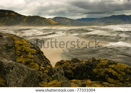 View of majestic glacier Vatnajokull, Iceland - stock photo