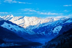 View of Manali,Manali is a valley nestled in the Himalayan mountains of the Indian state of Himachal Pradesh near the northern end of the Kullu Valley