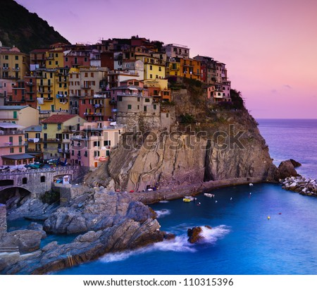 View of Manarola village in the National Park of