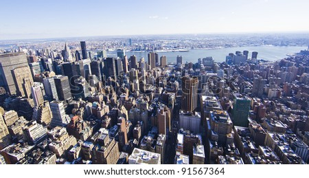 view of Manhattan from The Empire State Building, New York City