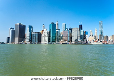 View of Manhattan, New York City. USA.