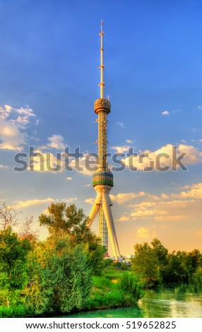 View of 375-metre-high Tashkent Television Tower in Uzbekistan