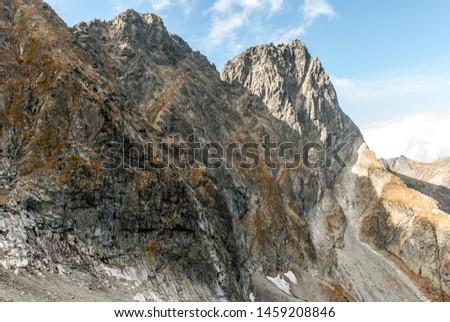 View of Mieguszowiecki Peak from Kazalnica Peak, Morskie Oko, Tatras, Poland