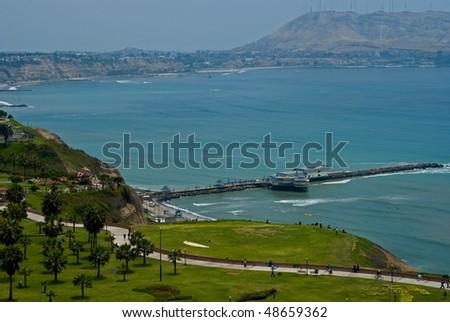 View of Miraflores Pier, Lima - Peru