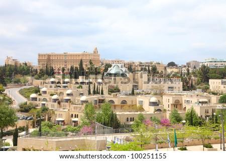 View of modern Jerusalem from the Jerusalem's wall