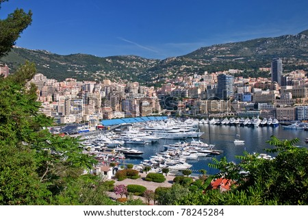 view of monaco bay with luxury boats