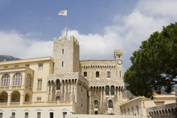 View of Monaco, Monte Carlo: The royal palace of the prince