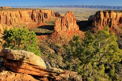 View of Monument Canyon and Independence Rock, Colorado National Monument, Grand Junction, USA