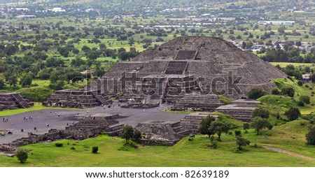 View of Moon Pyramids in Teotihuacan - Mexico