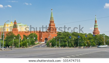 View of Moscow Kremlin, Russia, East Europe