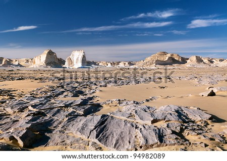 View of mountains in White desert