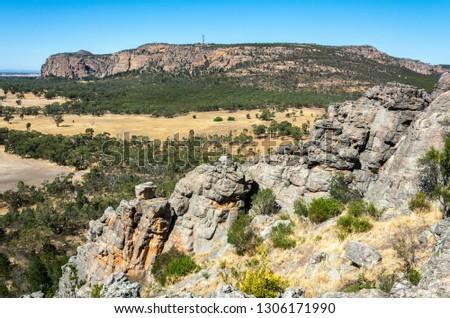 View of Mt Arapiles in Victoria, Australia.  #1306171990