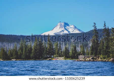 view of mt. hood in oregon from ...