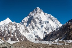View of Mt.K2 on the way to K2 Base camp, Pakistan