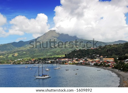 View of Mt. Pelee, Martinique
