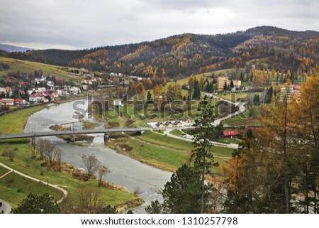 View of Muszyna. Voivodeship Lesser Poland. Poland #1310257798